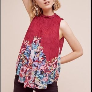 Deletta Epona Ted Floral Print Swing Tank